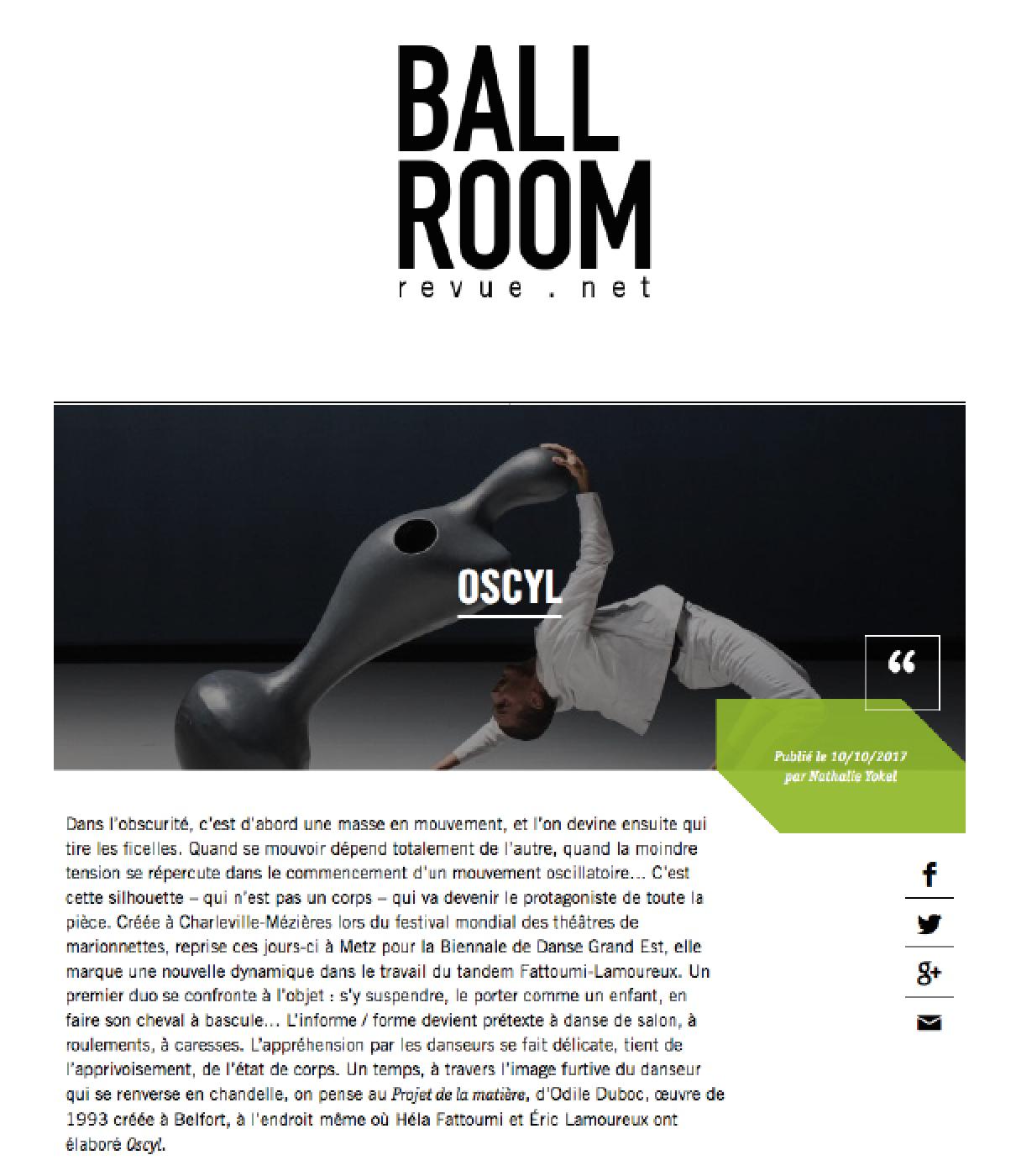 Ballroom OSCYL bloc